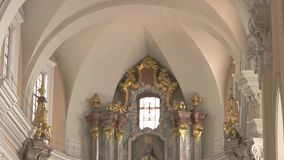 kyrklig interior lager videofilmer
