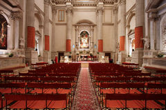 kyrklig interior för barock Arkivfoto