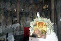kyrklig interior för byzantine arkivbild