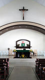kyrklig interior för kristen Arkivfoton