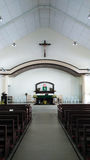 kyrklig interior för kristen Royaltyfria Bilder