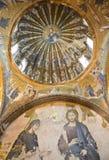 kyrklig istanbul för chora kalkon Arkivbild