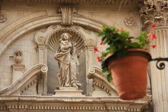 kyrklig italy för barock lecce Arkivfoton
