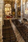 Kyrklig Jerónimos klosterabbotskloster Lissabon Arkivbild