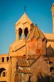 Kyrklig Katoghike helig moder av guden och helgonet Anna Church Planlägg och model min äga Yerevan centrum, Armenien Religiös bac Royaltyfri Foto