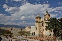 kyrklig klosterdomingo mexico oaxaca santo fotografering för bildbyråer