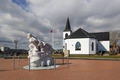 Kyrklig konstmitt Cardiff för norrman arkivbild