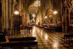 kyrklig korridor Arkivbild