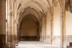 Kyrklig korridor royaltyfri fotografi
