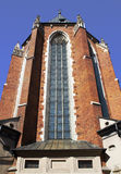 kyrklig krakow mary poland s st Royaltyfri Fotografi