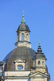 Kyrklig kupol för barock i kloster Fotografering för Bildbyråer