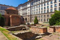 Kyrklig kyrka av St George, Sofia i Sofia royaltyfria foton
