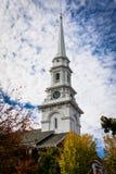Kyrklig kyrktorn Fotografering för Bildbyråer