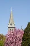 kyrklig kyrktorn Arkivbilder