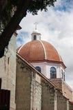 Kyrklig kyrktorn i Oaxaca, Mexico Arkivbild