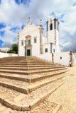 Kyrklig Igreja Sao Martinho de Estoi för portugis landmark, Algarve arkivbilder