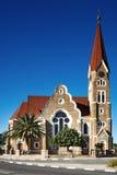 kyrklig lutheran windhoek Arkivfoto