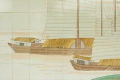 kyrklig målning för kines Arkivbild