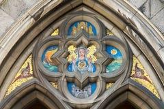 kyrklig mary för kristen mosaik arkivbilder