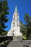 kyrklig mer imier jura saint switzerland Fotografering för Bildbyråer