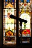 kyrklig mikrofon Arkivbilder