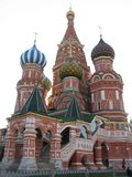 kyrklig moscow pokrovsky röd fyrkant Arkivfoto