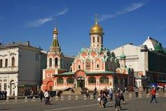 kyrklig moscow röd fyrkant Royaltyfri Fotografi