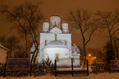 kyrklig nativity Arkivfoton