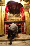 kyrklig nativity vallfärdar Arkivbild