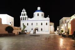 kyrklig oia santorini royaltyfria foton
