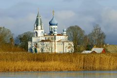 kyrklig ortodox ryss Royaltyfria Bilder