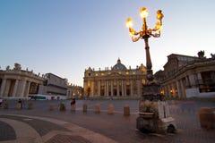 kyrklig peter för basilica saint Arkivfoto