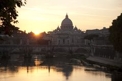 kyrklig peter rome s st vatican Arkivbild