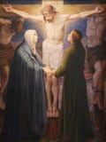 kyrklig peter s för crucifixiongentmålarfärg st Arkivfoto