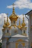 kyrklig peterhofpetersburg russia st Royaltyfri Fotografi