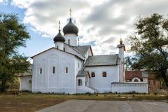 Kyrklig presentation av Mary By Sukharevo Ryssland royaltyfria foton
