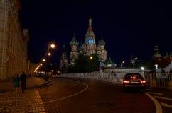 kyrklig s st för basilika natt Ryssland moscow röd fyrkant Royaltyfri Fotografi