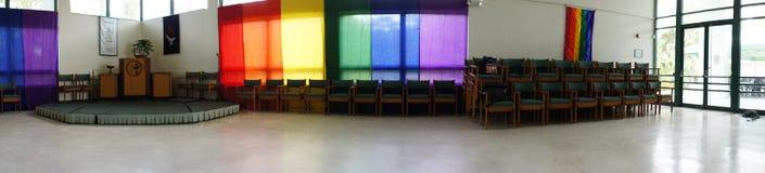 Kyrklig salongpanorama Fotografering för Bildbyråer