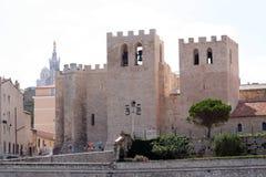 Kyrklig Sankt segrare i Marseille Fotografering för Bildbyråer