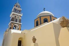 kyrklig santorini Royaltyfria Bilder