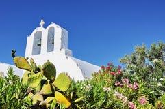 kyrklig santorini Fotografering för Bildbyråer