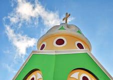 kyrklig santorini Royaltyfri Fotografi