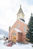 kyrklig snow fotografering för bildbyråer