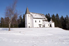 kyrklig snowwhite Royaltyfria Bilder