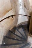 kyrklig spiral trappa Arkivbild
