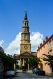 Kyrklig St, charleston, SC Royaltyfri Foto