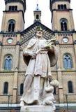 Kyrklig staty för millenium Arkivbild
