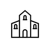 Kyrklig symbol vektor illustrationer