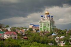 Kyrklig tempel, Elets, Ryssland Arkivfoto