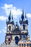 kyrklig tjeckisk lady vår prague republiktyn Fotografering för Bildbyråer